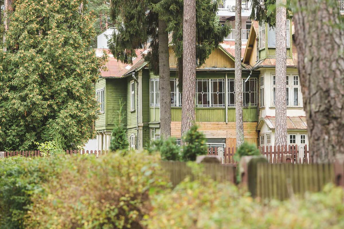Vackra hus i Jurmala