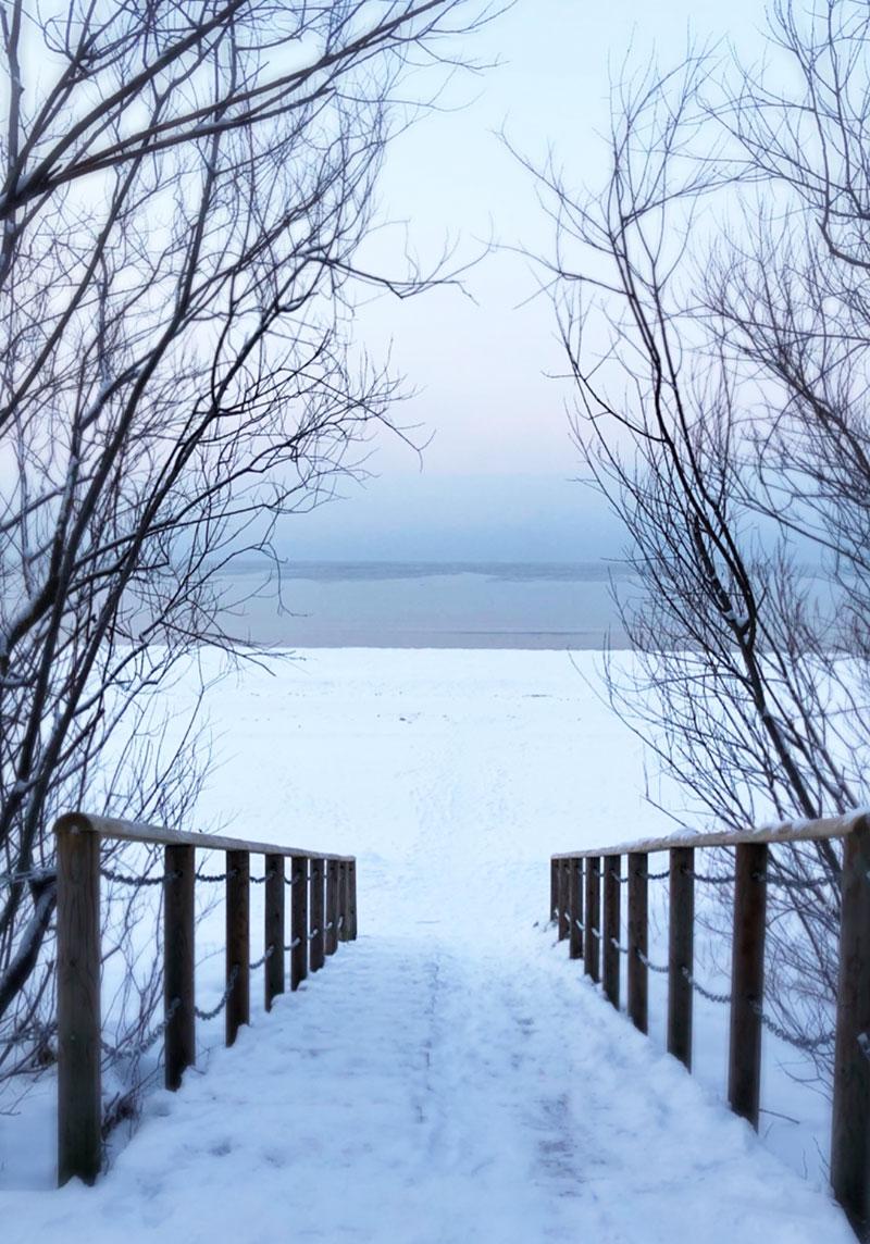 Stranden och havet i Jurmala