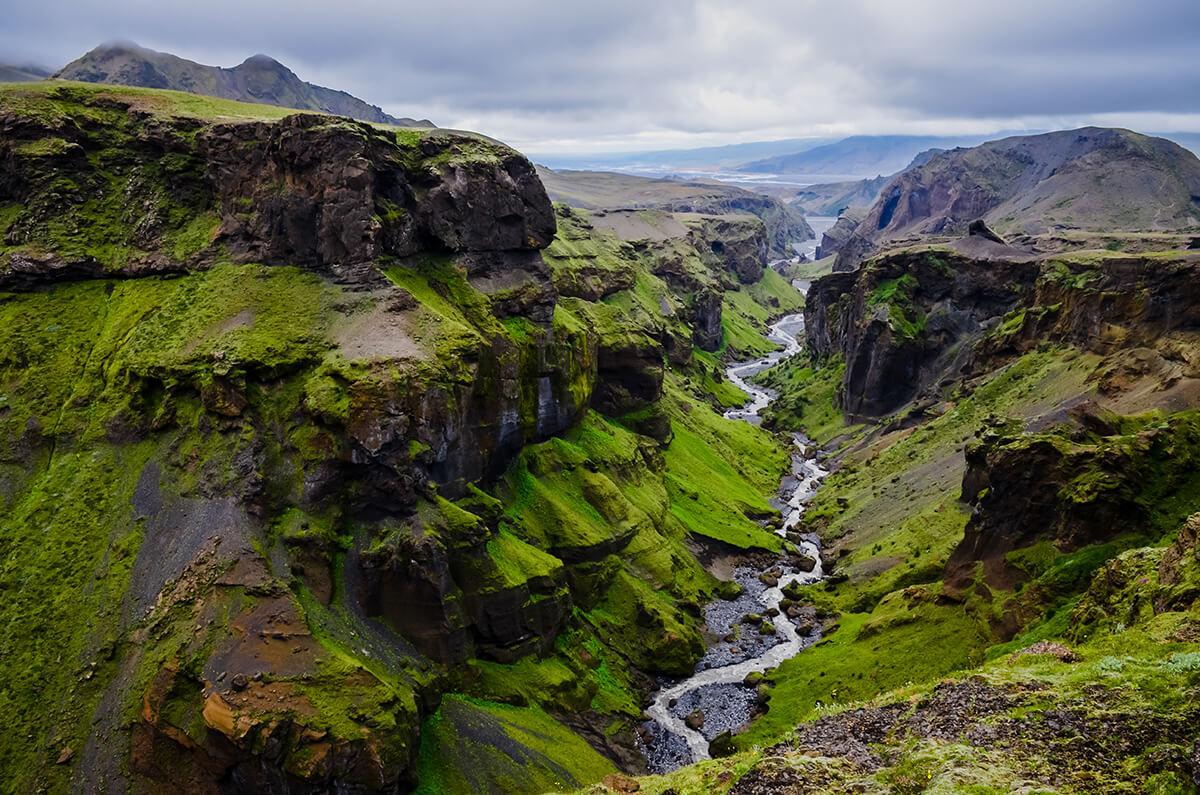 Vacker natur på Island
