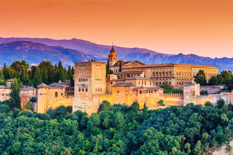 Alhambra i Granada, Andalusien