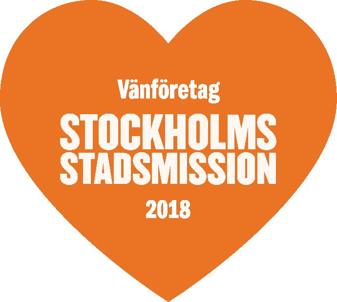 Vi stödjer Stockholms Stadsmission under år 2018