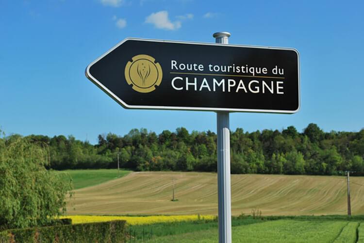 Champagnedistriktet skylt