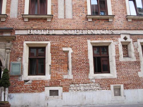 Ett av hotellen som vi använder i Krakow