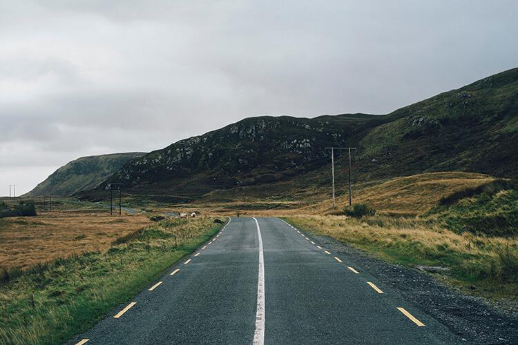 Väg på Irland