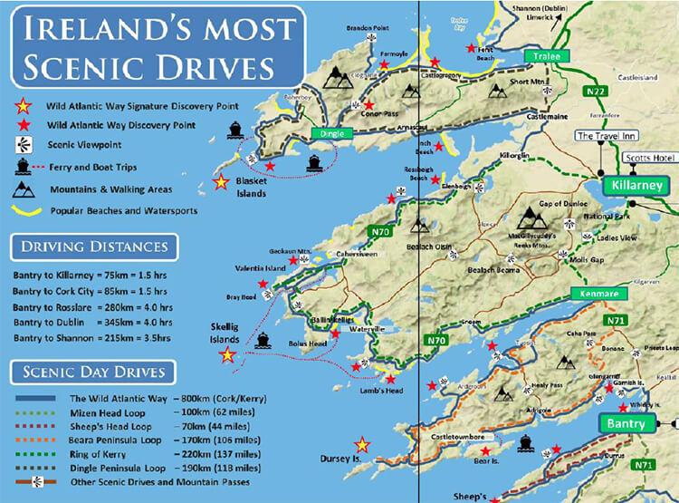 karta bilrundresan Irland