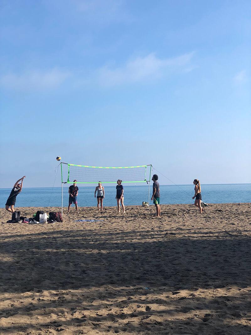 Beachvolleyboll på stranden Malagueta