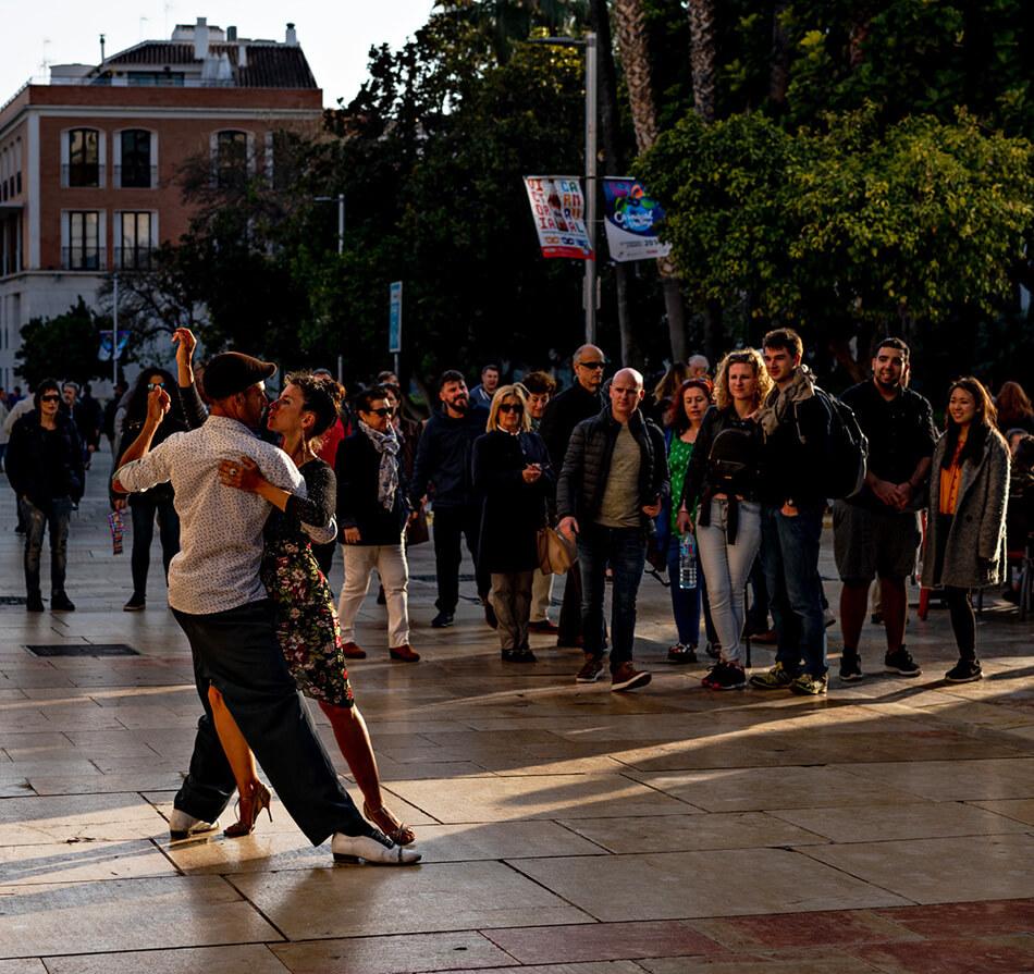 Flameco på Malagas gator