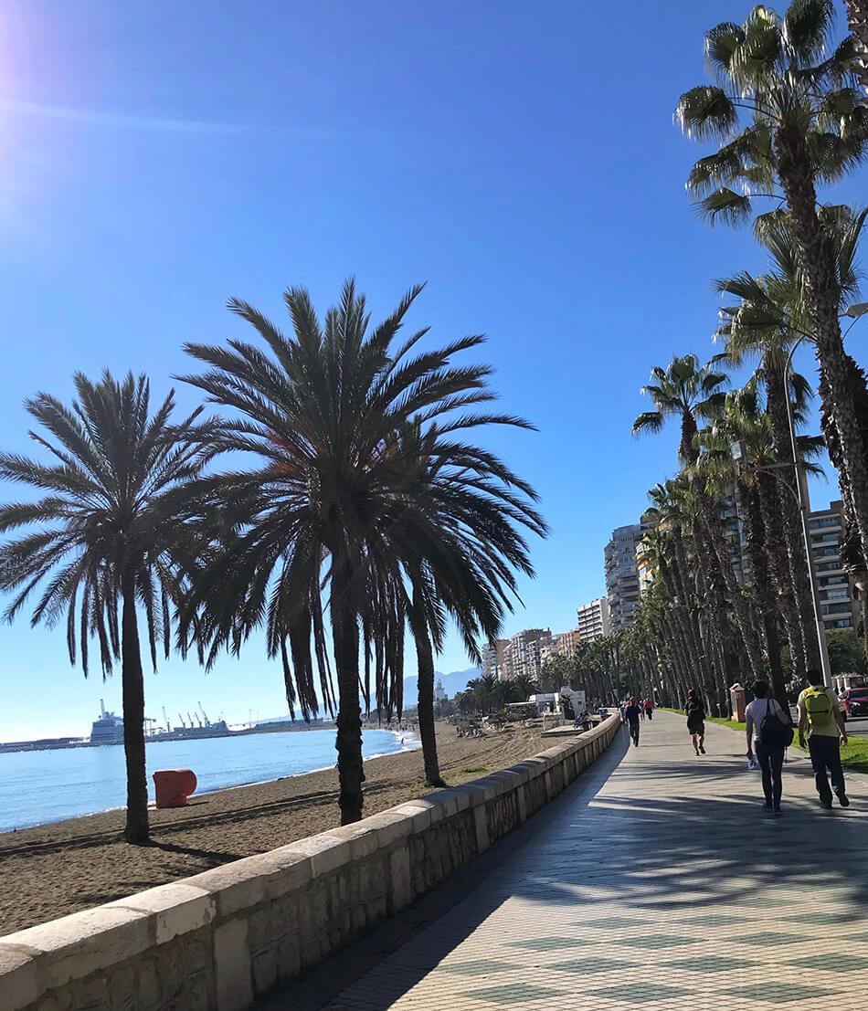 Malagas strandpromenad