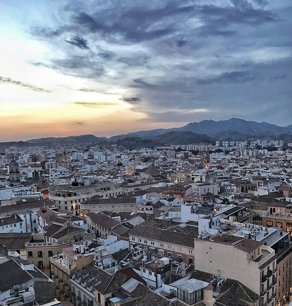 Utsikt över Malaga